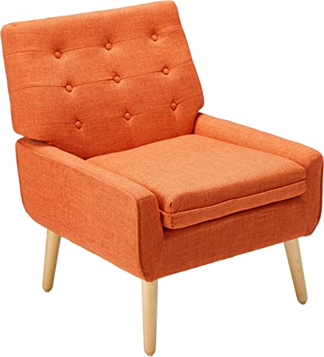 Christopher Knight Home 301751 Eonna Buttoned Mid Century Modern Muted Orange Fabric Chair