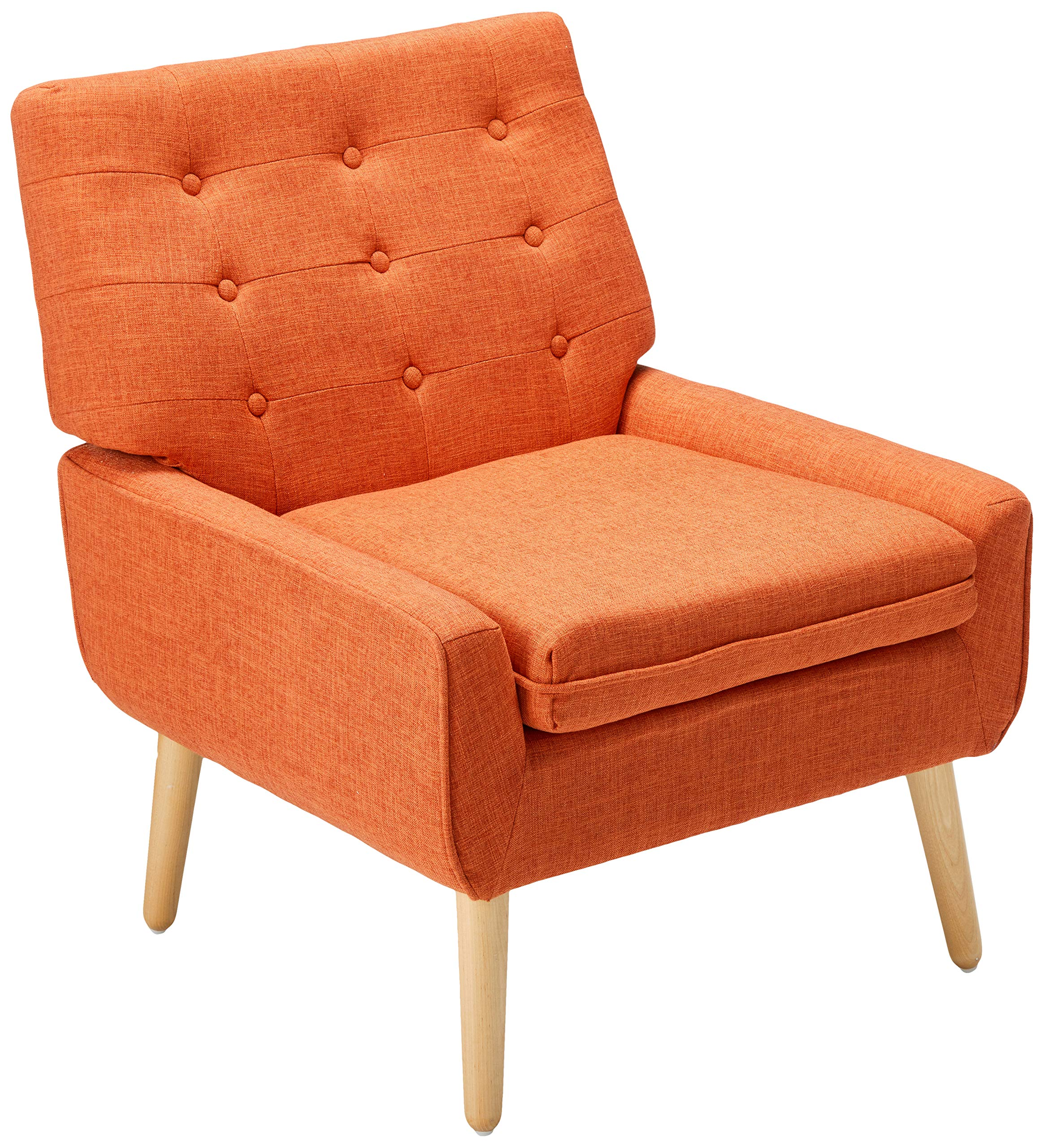 Christopher Knight Home 301751 Eonna Buttoned Mid Century Modern Muted Orange Fabric Chair by Christopher Knight Home