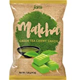 Jans Milk Chewy Candy, 40 Piece Count, (Matcha, 4 oz)
