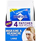 WellPatch Migraine & Headache Cooling Patch - Drug Free, Lasts Up to 12 hours, Safe to Use with Medication - Large…