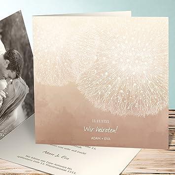 Hochzeitseinladungen Online Gestalten Lowenzahn 55 Karten