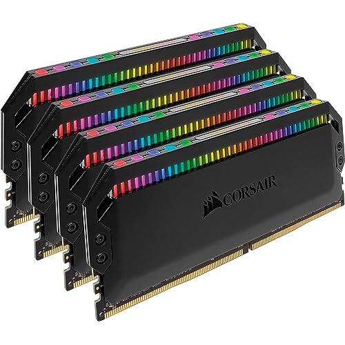 Corsair Dominator Platinum RGB Kit de Memoria 32 GB 4x8 GB DDR4 3000 MHz C15 con Iluminación LED RGB Negro
