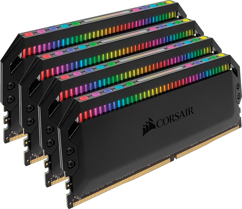 Corsair Dominator Platinum RGB 64GB (4x16GB) DDR4 3000 (PC4-24000) C15 1.35V Desktop Memory