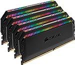 CORSAIR Dominator Platinum RGB 32GB (4x8GB) DDR4 3200 (PC4-25600) C16 1.35V Desktop Memory - Black