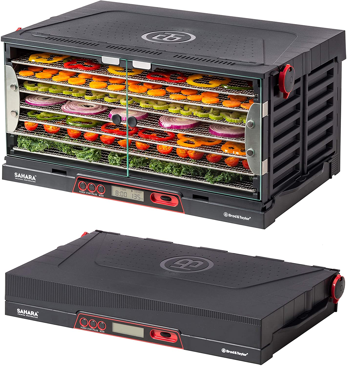 Brod Taylor SAHARA Folding Food Dehydrator, Beef Jerky, Fruit Leather, Vegetable Dryer Stainless Steel Shelves