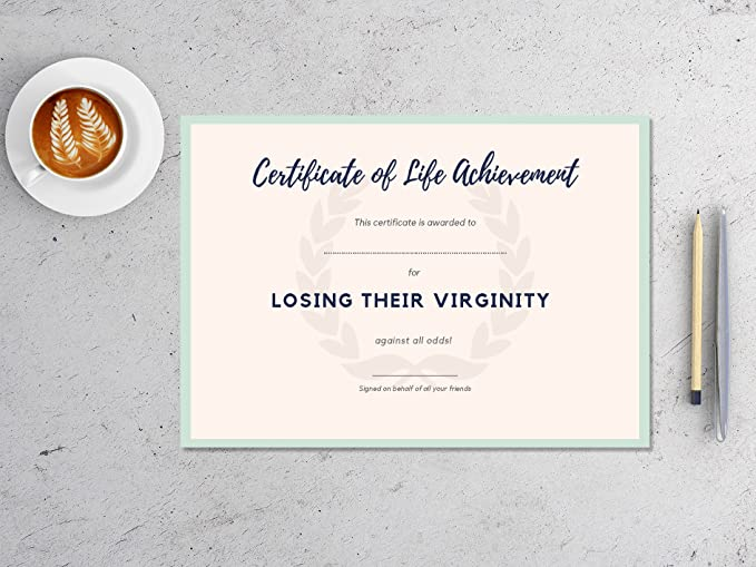 Certificate by Novelty Certificates (Rude) - Congratulations for ...