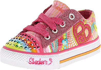 a9aca76793cb Skechers Twinkle Toes Heart Sparks Light-Up Sneaker (Toddler Little Kid Big