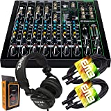 Mackie ProFX10v3 10-Channel Mixer with Built-in Effects and USB + Pro Headphone with Pair of EMB XLR Cable and Gravity Magnet