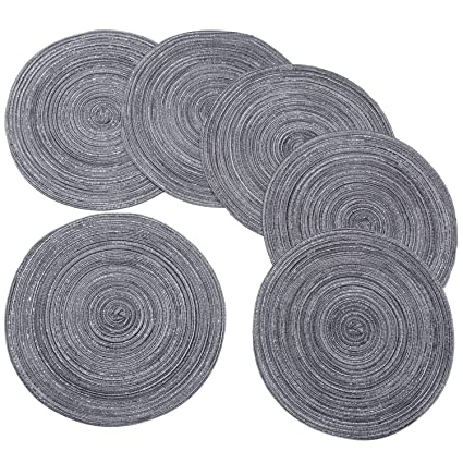 Round Braided/Woven Placemats, Indoor/Outdoor Placemat/Charger, Kitchen Mat  For