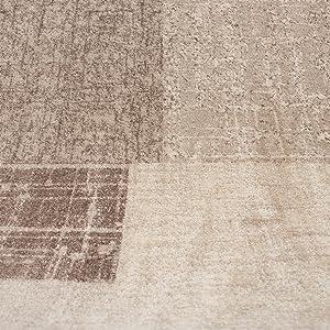 Vimoda Designer pelo corto Tappeto in beige grigio e crema quadrettato con sguardo delle mattonelle - MOLTO PRATICO NELLA Handhabung, beige, 160 cm x 230 cm