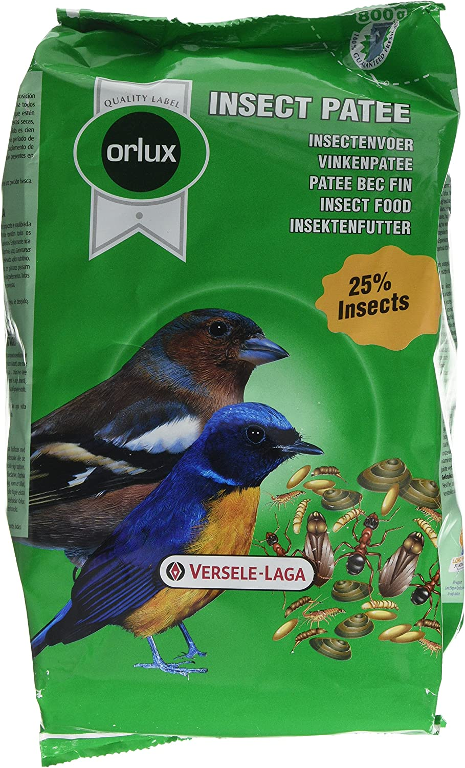 Versele-Laga Orlux Insect Patee Aviary Bird Complete Food 800g 424033