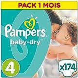 Pampers Baby Dry, 174 Pannolini, Taglia 4 (8-16 kg), 174 pezzi