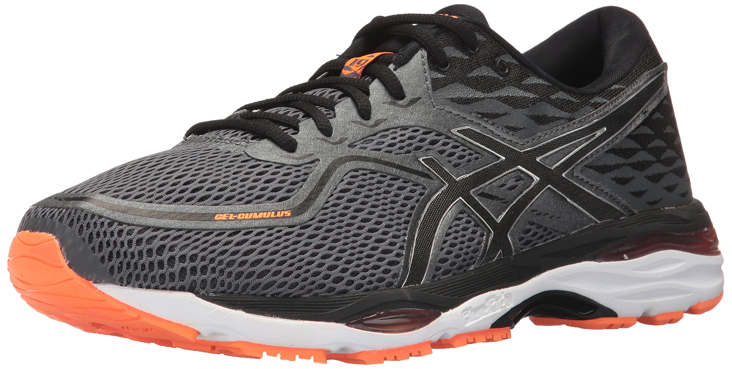 ASICS Mens Gel-Cumulus 19 Running Shoe, Carbon/Black/Hot Orange, 6 Medium US