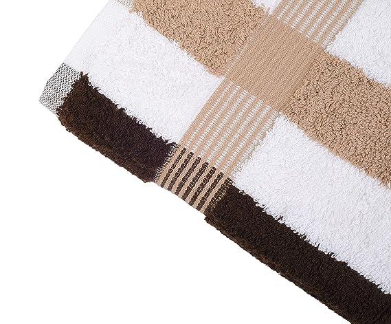 Gözze 555-9600-A4 - Juego de toallas de mano (100% algodón, 550g/m², textil ecológico 100 Standard), color marrón, blanco y beige: Amazon.es: Hogar