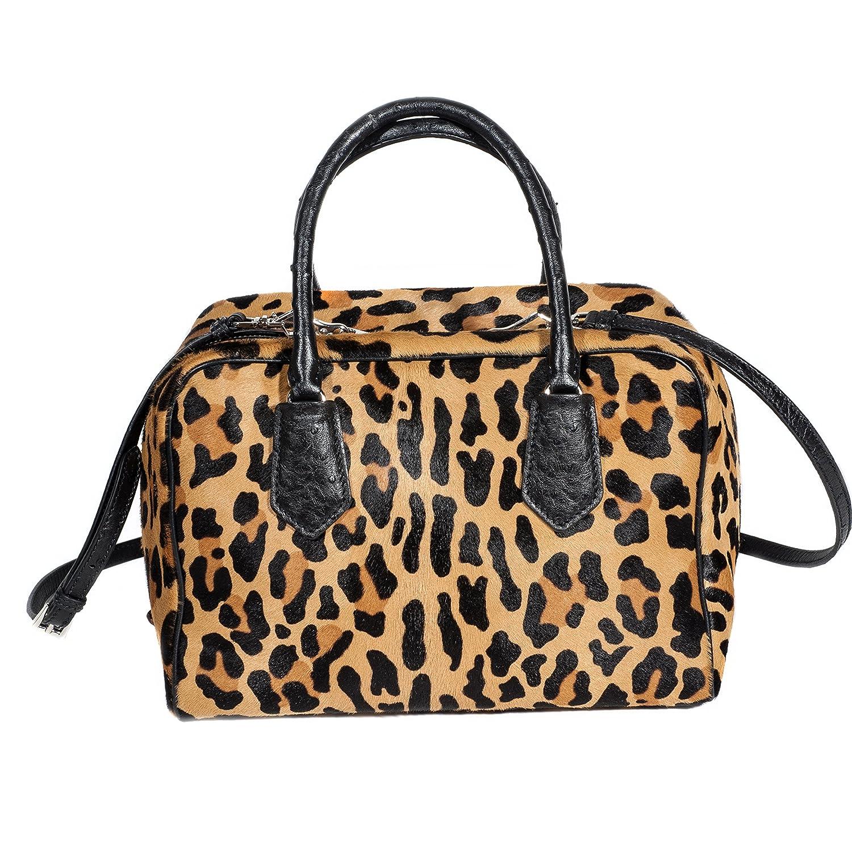 454fc0940b76 Amazon.com: Prada Calf Hair & Ostrich Medium Inside Bag, Leopard/Red/Black:  Clothing