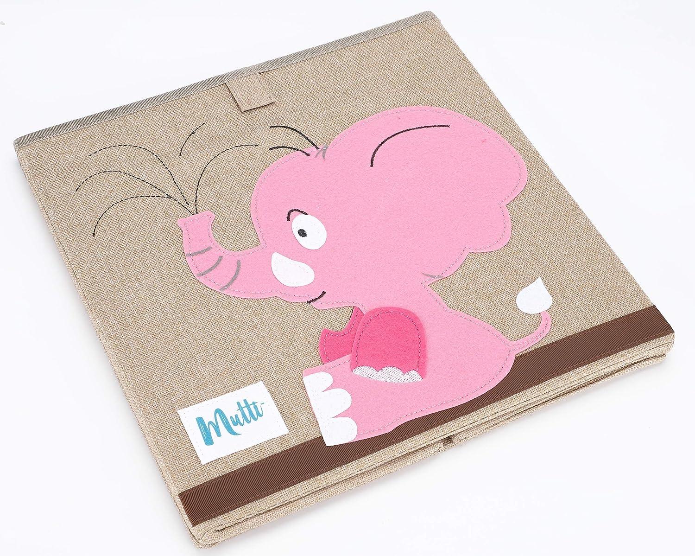 Aufbewahrungsbox Kinder Babyzimmer Deko Baby Box Korb Kinderzimmer Babyspielzeug Kleidung Schuhe Spielbox Tierbilder Aufbewahrungskiste NEU 2020 Modell mit Baumwolle Zertifizierter Stoff Mutti