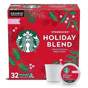 Starbucks Holiday Blend Medium Roast K-Cup