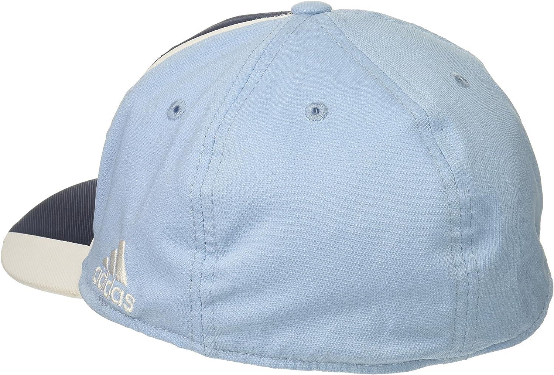 Small//Medium Navy//Blue adidas Adult Men Cut N Sew Curved Visor Flex