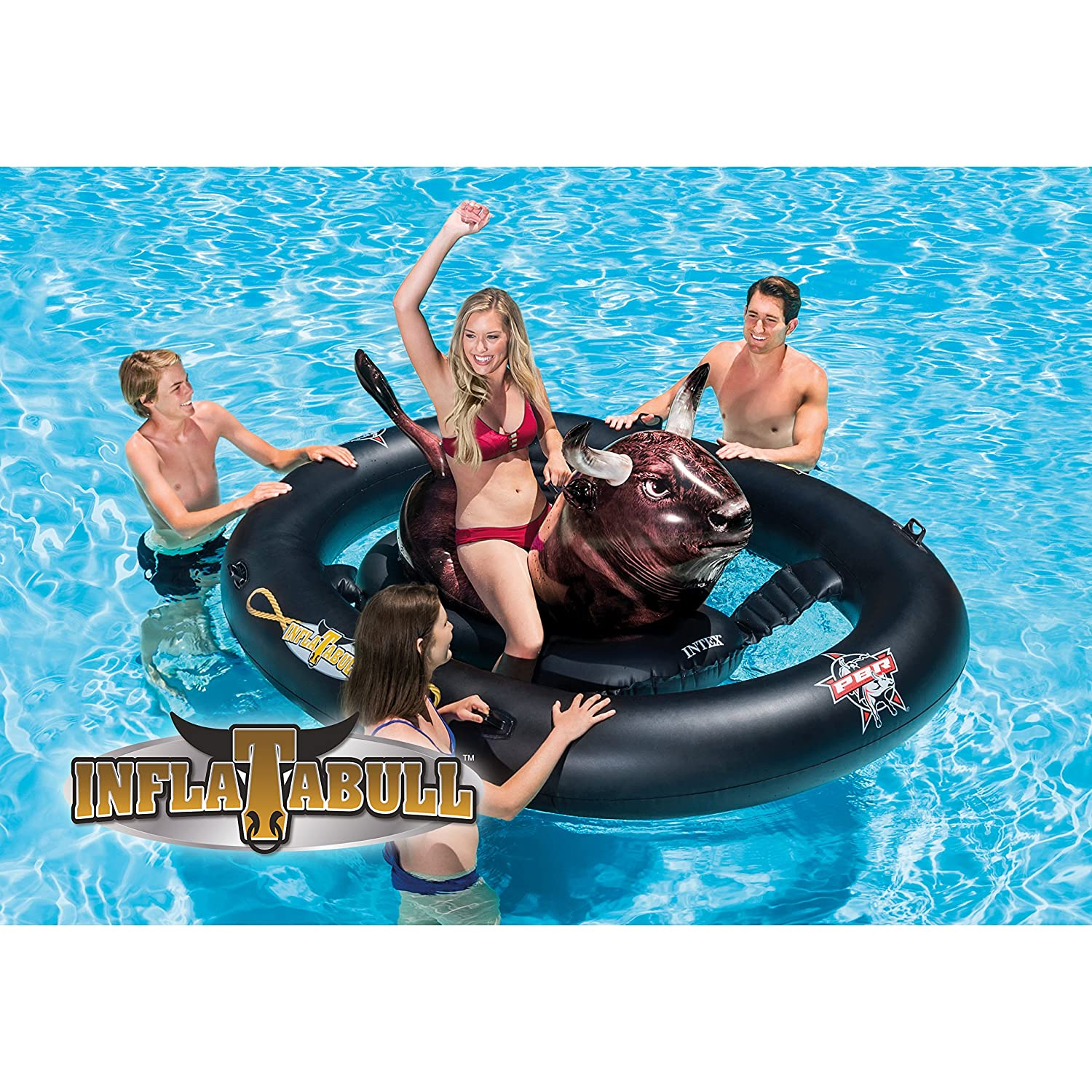 INTEX inflat-a-Bull, Inflable Ride-on Piscina de Juguete con la ...