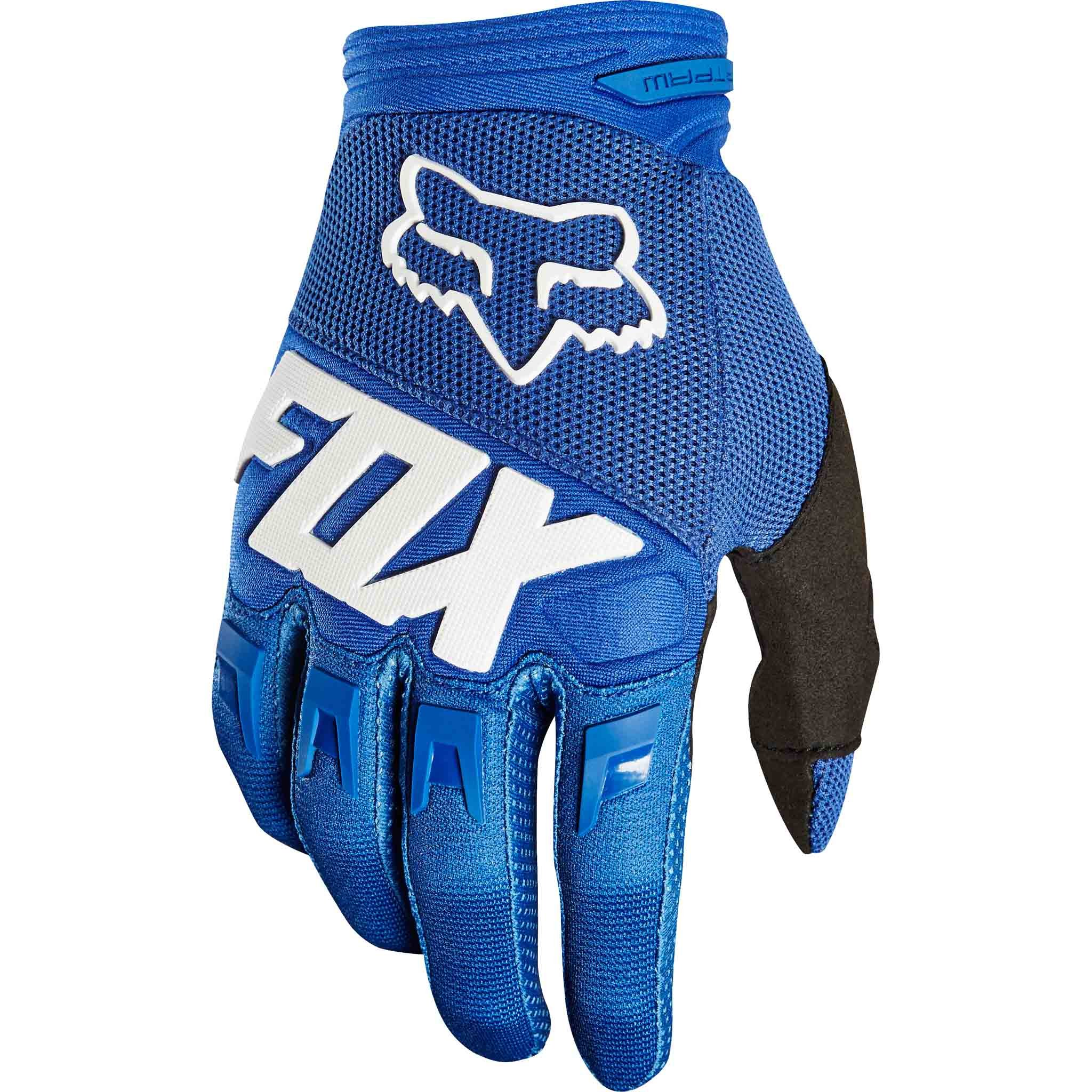 2018 Fox Racing Youth Dirtpaw Race Gloves-Blue-YL