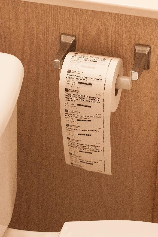 Amazon.com: Donald Trump Classic Tweets Toilet Paper - Single Roll ...
