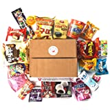 Deluxe Asian Snack Box (20 Count)   Variety Assortment of Japanese Candy, Korean Snacks and More!   College Care Package   Gift Care Package