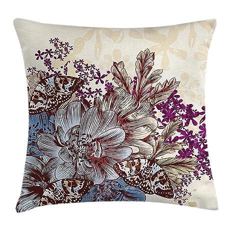 Proud Clothing - Funda de cojín con diseño floral, diseño de ...