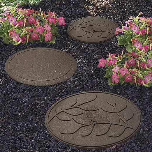Clifford - Piedras Decorativas para jardín, Caucho Reciclado y Resistente a la Intemperie, diseño de Hojas: Amazon.es: Jardín