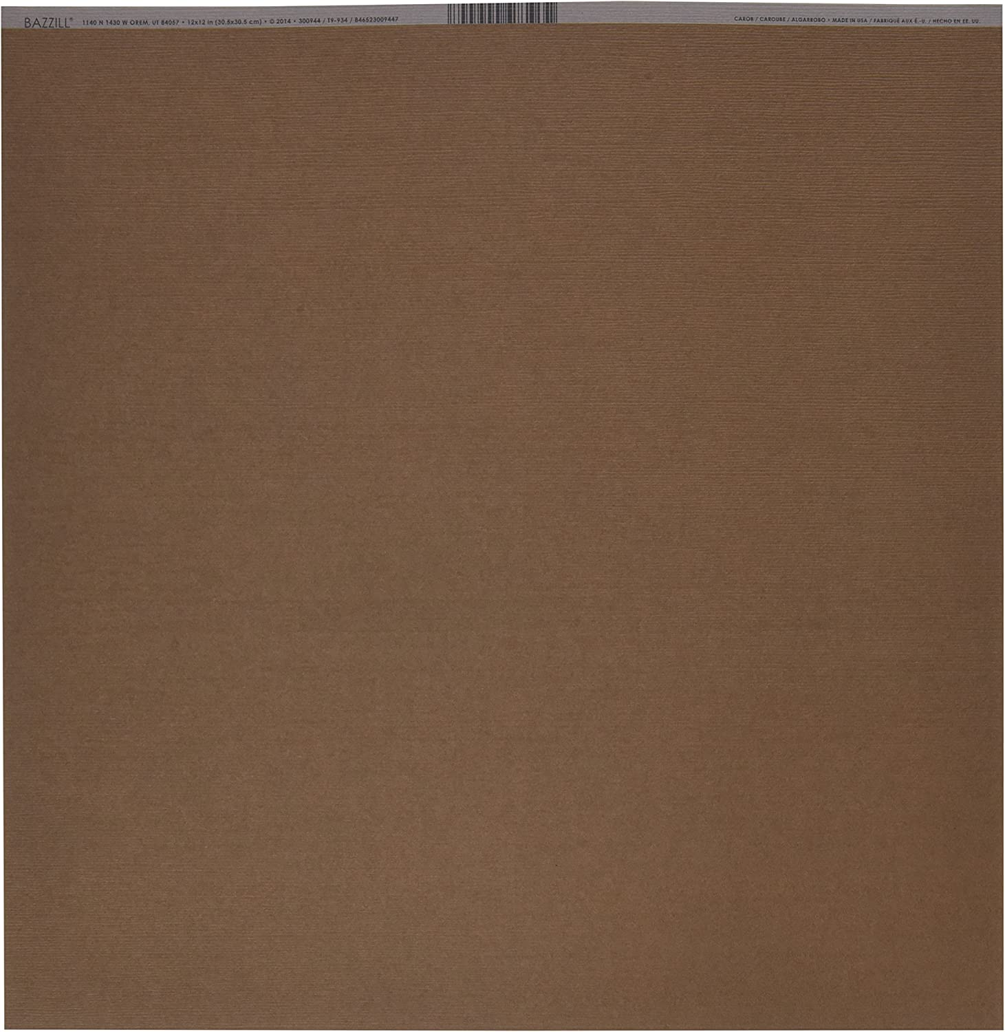 """Bazzill Fourz Cardstock 12/""""X12/""""-Fussy//Grasscloth 25 Pack"""