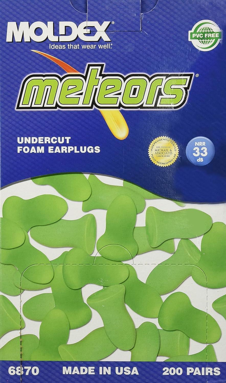 Moldex Meteors Foam Earplugs, Uncorded, 200 Pairs/Box