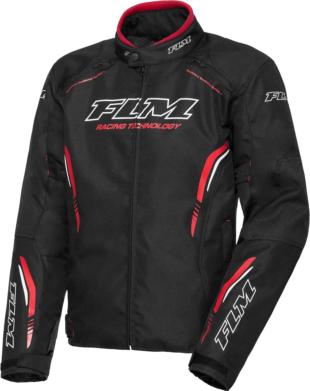 FLM Motorradjacke mit Protektoren Motorrad Jacke Sports Textiljacke 6.0 Sportler Sommer Herren