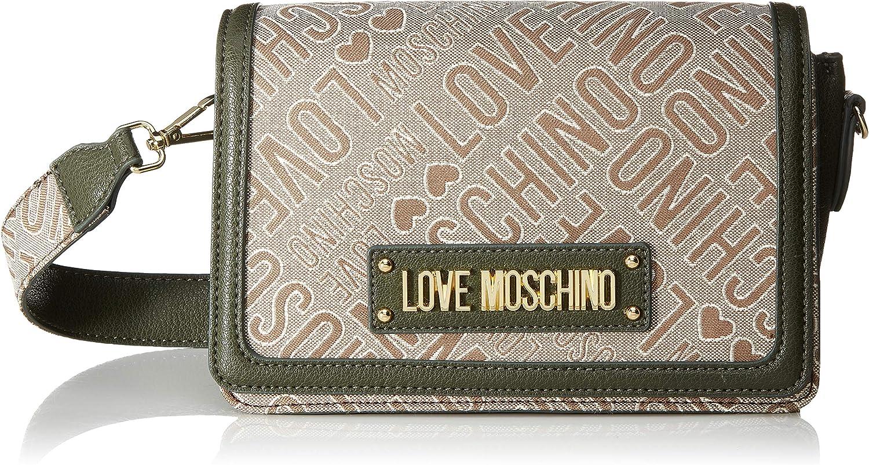 W x H x L Natural//Verde Tracolla Donna Verde Love Moschino Borsa Jacquard Natur E Grain Pu 14x10x23 cm