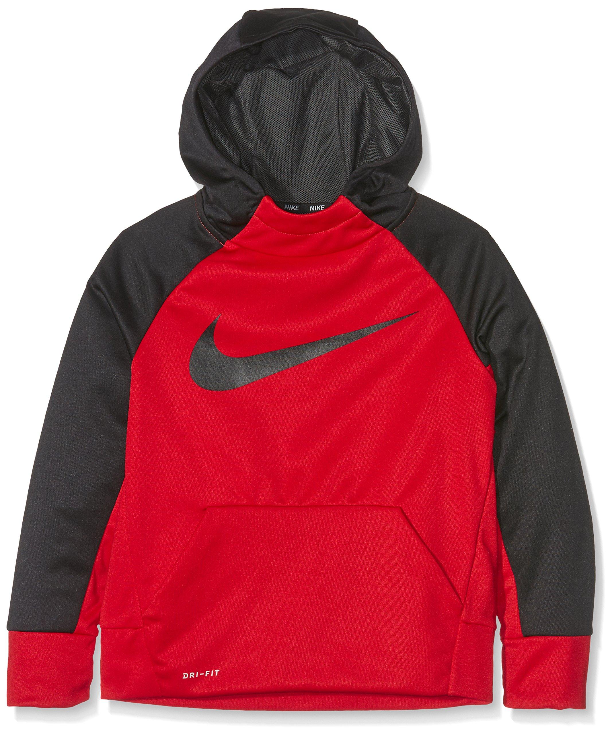 Nike Boys Therma Training Hoodie MD RED/Black