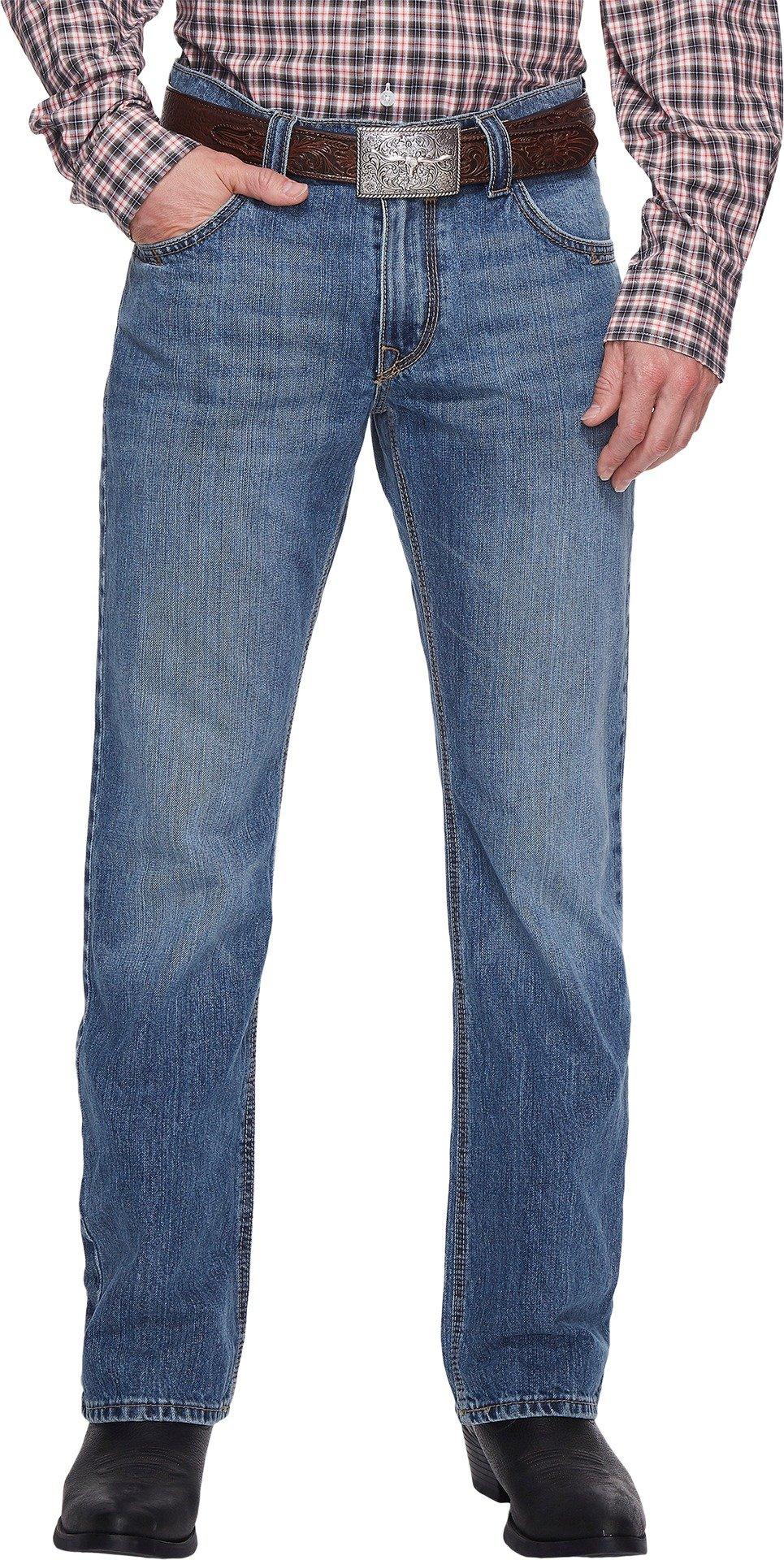 Cinch Men's Carter 2.0 Light Stonewash Relaxed Fit Jeans Boot Cut Indigo 40W x 34L