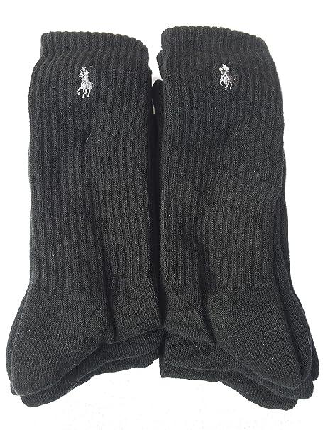Ralph Lauren - Calcetines de deporte - para hombre Negro Negro Talla única