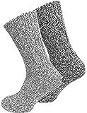 Juego de 2 pares de calcetines noruegos (calcetines de lana), tejidos, unisex