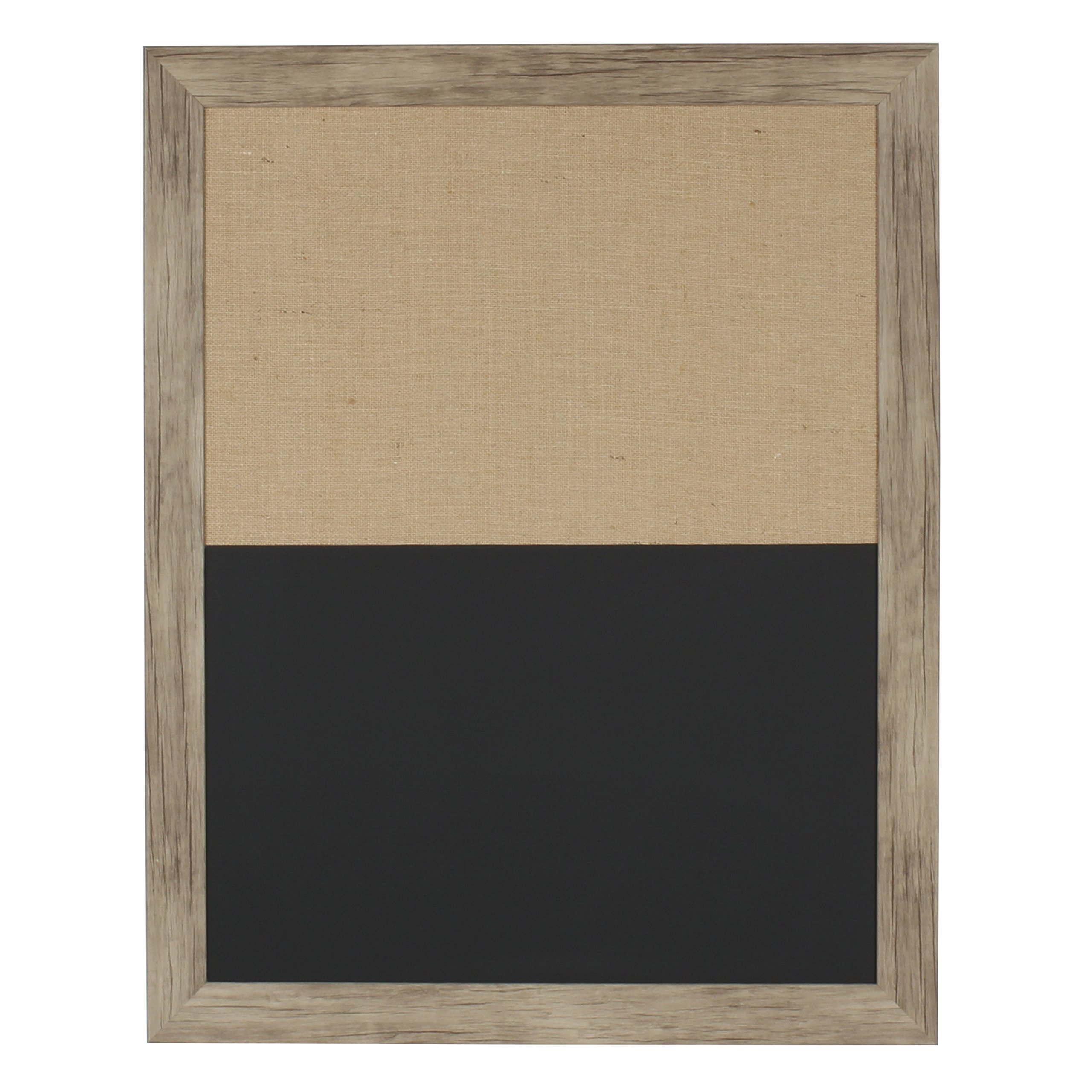 DesignOvation 209364 Beatrice Framed Combination Magnetic Chalkboard and Fabric Pin Board