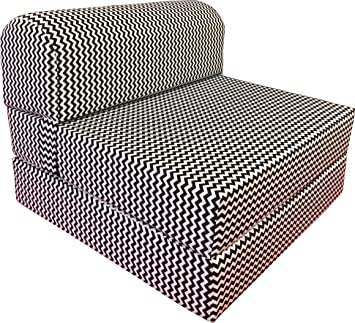 Incredible Dd Futon Furniture Black White Zigzag Sleeper Chair Folding Foam Bed Sized 6 Thick X 32 Wide X 70 Long Studio Guest Foldable Chair Beds Foam Short Links Chair Design For Home Short Linksinfo