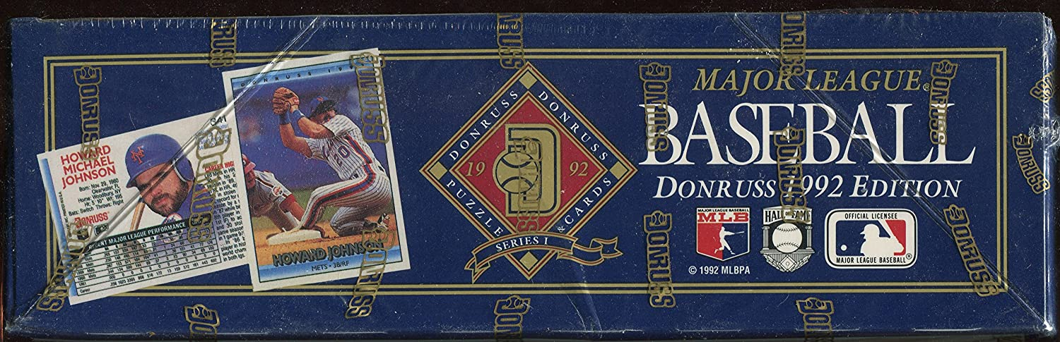 1992 Donruss Series I Major League Baseball Puzzle Cards Unopened Box Look for Rookies and Hall of Fame Member Cards. 36 Packs Per Box
