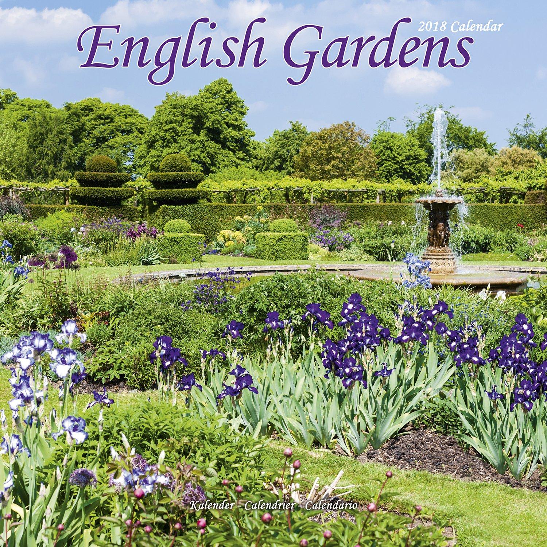 Garden Calendar - English Gardens Calendar - Calendars 2017 - 2018 Wall Calendars - Flower Calendar - English Gardens 16 Month Wall Calendar by Avonside