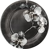 Madhouse by Michael Aram 8 Count Fine Paper Dinner Plates, Black Orchid