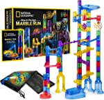 NATIONAL GEOGRAPHIC Glowing Marble Run – 80 Piece Construction Set with