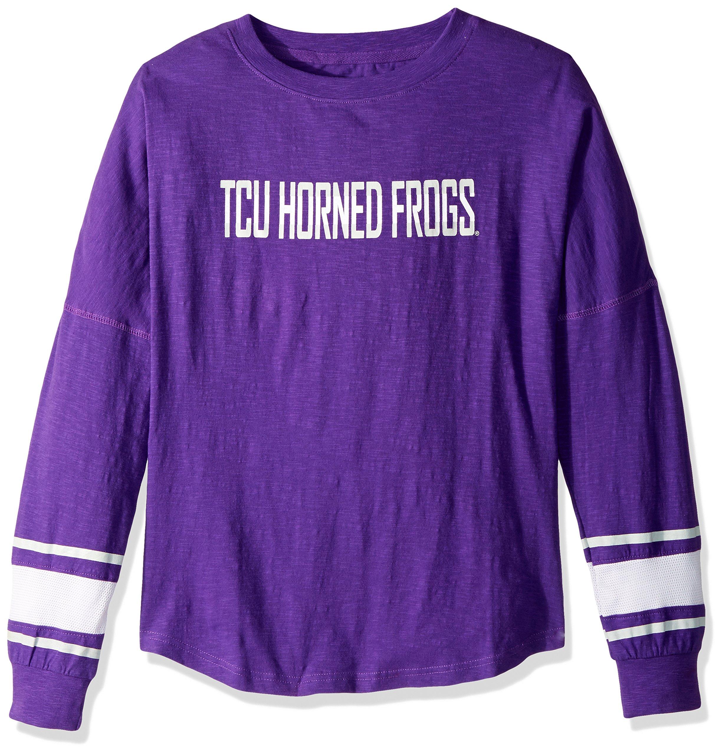 NCAA TCU Horned Frogs Women's Campus Specialties Long Sleeve Fan Tee, XX-Large, Purple