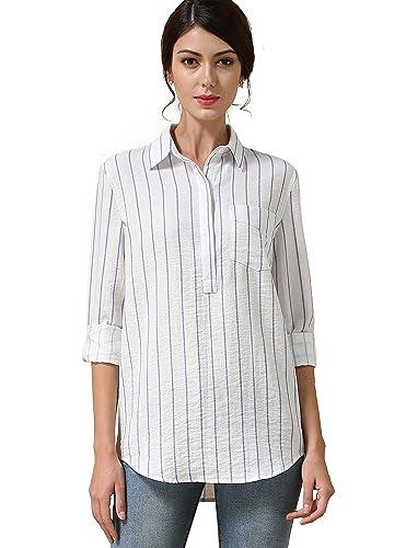 HieasyFit - Camisas - con botones - para mujer