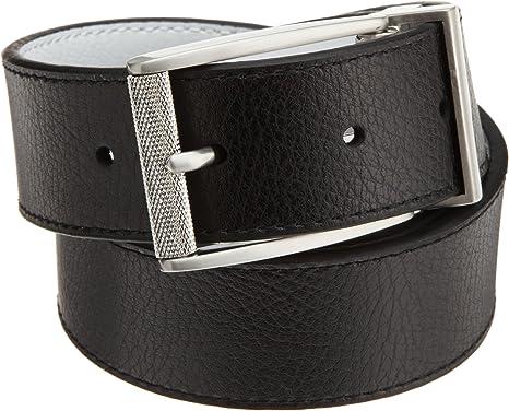 """Black Mens Belts Reversible Belt buckles Genuine leather 37 mm strap 40/"""" NEW"""
