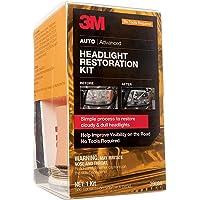 3M Headlight Restoration Kit, Simple Process to Restore Cloudy & Dull Headlights, Hand Application, 1 Kit (39084)
