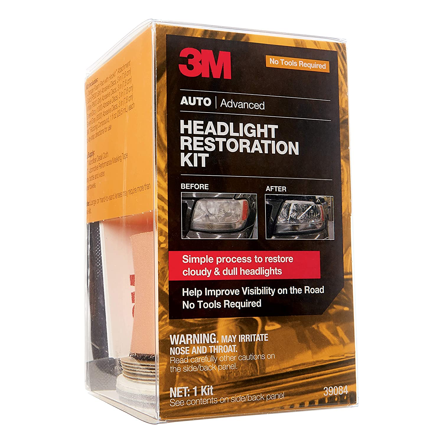 3M 39008 Headlight Lens Restoration System}
