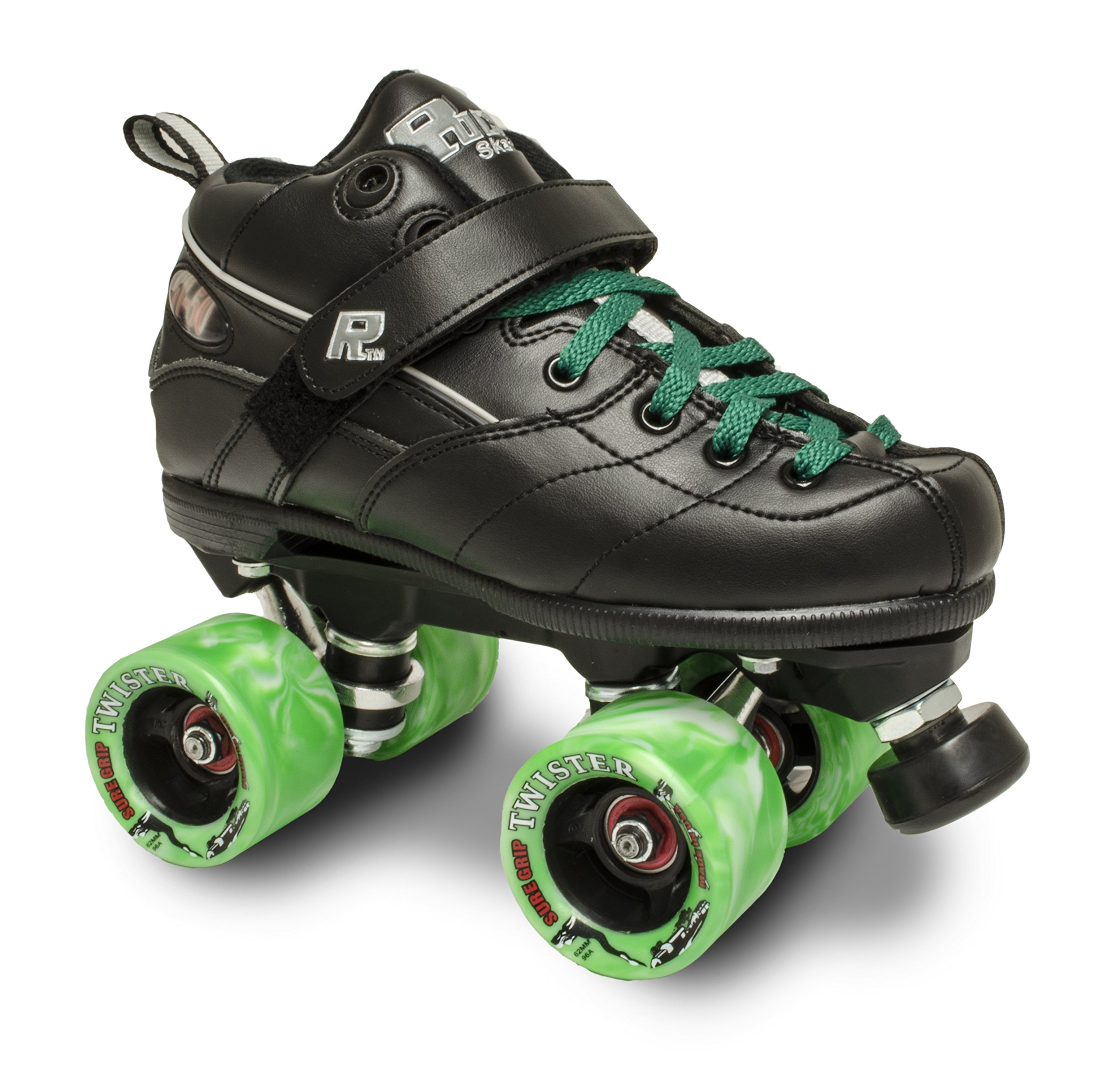 Sure-Grip ROCK GT50 TWISTER ROLLER SKATES W/GREEN TWISTER ANG GREEN LACE SIZE 13 by Sure-Grip