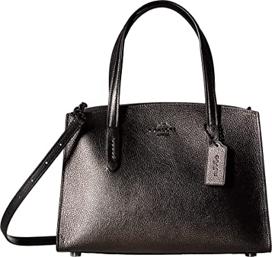 2248835f8 COACH Women's Metallic Charlie 28 Carryall Gunmetal/Metallic Graphite One  Size: Handbags: Amazon.com