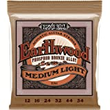Ernie Ball Earthwood Medium Light Phosphor Bronze Acoustic String Set.012 - .054